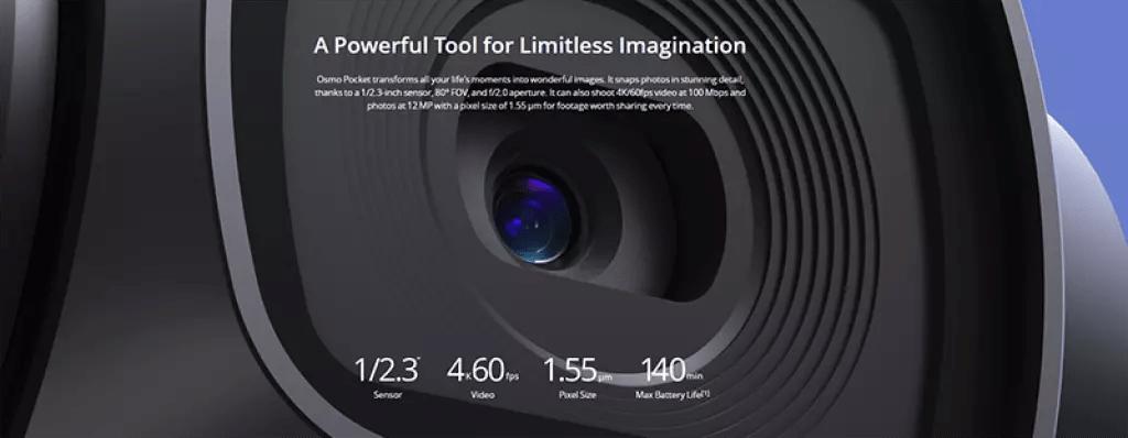 DJI Osmo Pocket 3 Axis buena calidad de imagen de video