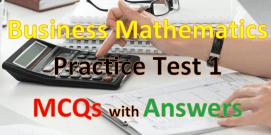 Business Mathematics Mcqs with Answers 1