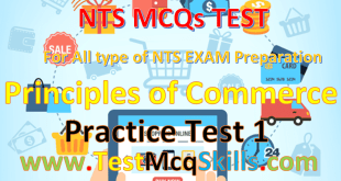 NAT I-COM Principles of Commerce Test-1