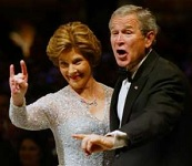 George W bush hand sign