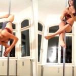 Garota resolve cubo mágico enquanto faz pole dance [vídeo]