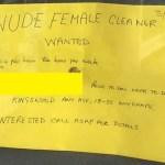 Homem publica anúncio procurando faxineira nua e recebe 8 respostas