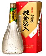 Saquê com flocos de ouro Hakushika