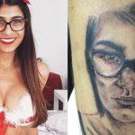 """Atriz pornô Mia Khalifa detona fã brasileiro que tatuou seu rosto: """"você é um idiota"""""""