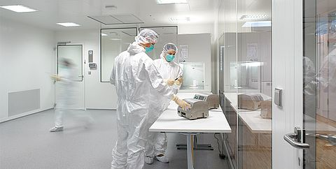 Particle measurement in clean rooms by Testo Industrial Services