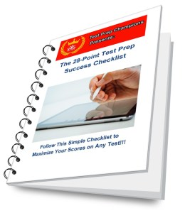 Access the 28-Point Test Prep Success Checklist