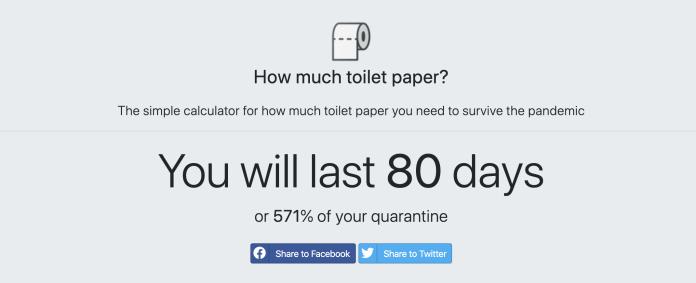 Toilettenpapier Kalkulator