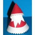 Fabriquer un Père Noël en papier en forme de cône