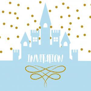 invitation de princesse bleue par tete