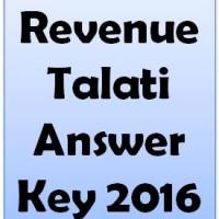 Revenue Talati Answer Key 2016
