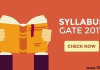 GATE 2017 Syllabus