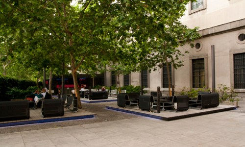 Terraza Museo  Reina Sofia  vista general Te Veo en Madrid