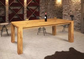 """""""Hugo"""" Esstisch Tisch 200x100 cm Eiche massiv geölt / Fuß ..."""