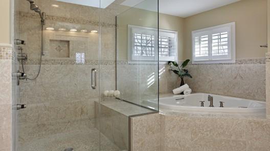 Frameless Shower Door in Houston TX bathroom