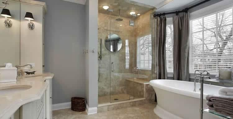 Houston frameless shower door glass