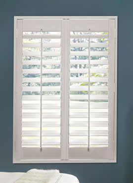 Double panel plantation shutters Houston TX