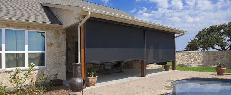 motorized patio shades outdoor roller