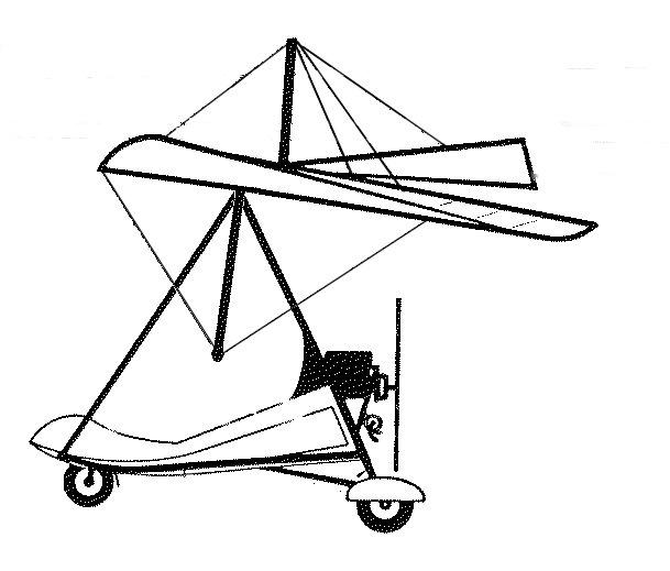 High Wing Ultralight Aircraft