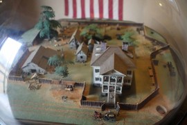 Model of the Kershaw house and the town behind it