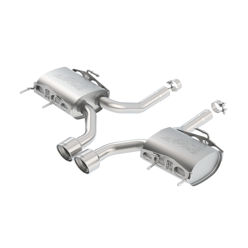 borla 2011 2015 cadillac cts v coupe axle back exhaust system s type