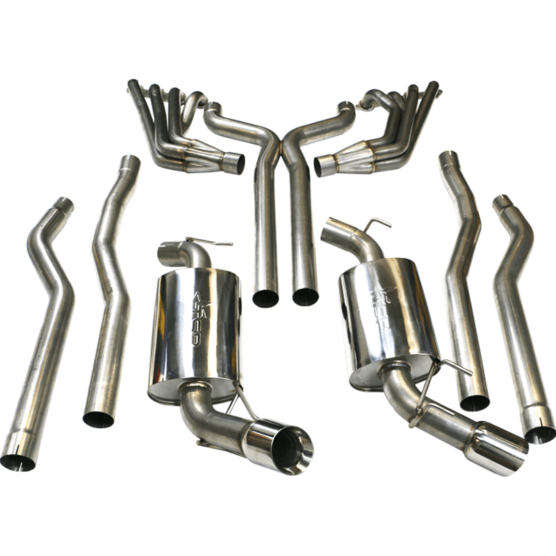 tsp 2010 camaro ss long tube exhaust system 1 7 8 stainless steel headers off road x pipe exhaust manifold gaskets w o2 ext