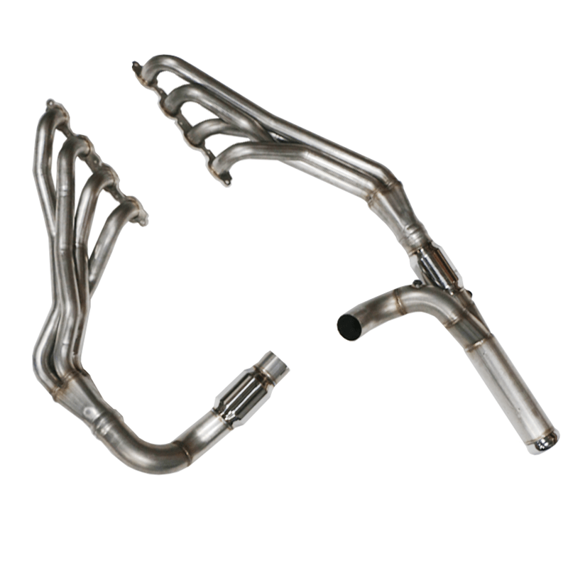 tsp 1 7 8 304 stainless steel long tube headers and catted y pipe for 2014 chevy gmc 5 3l trucks