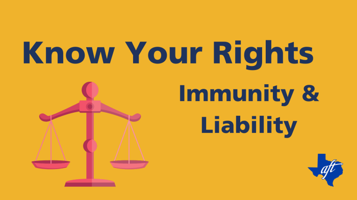 """Text says, """"Know Your Rights, Immunity and Liability"""""""