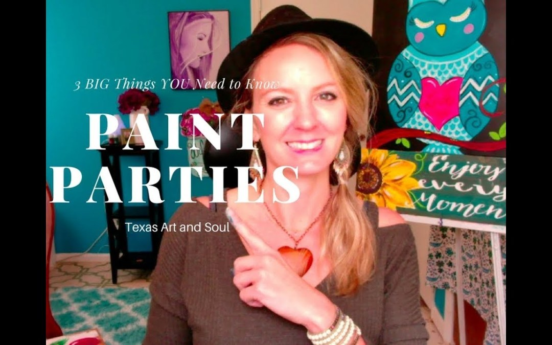3 BIG Things You Need to Know Before Teaching Paint Parties!