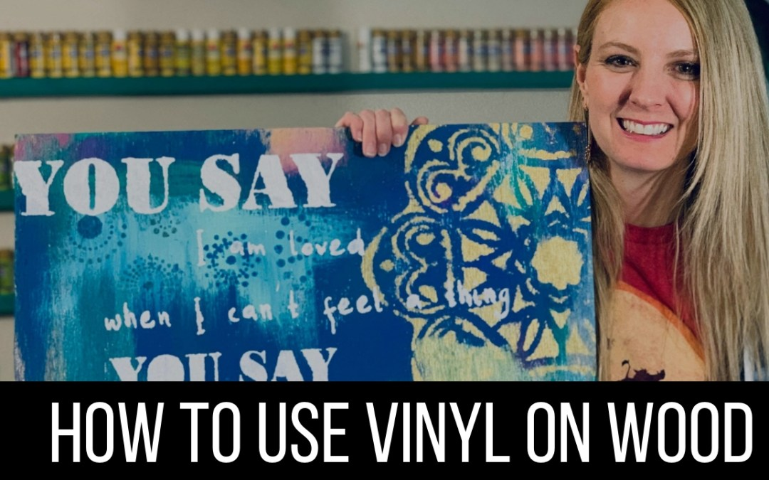How to Stencil on Wood with a Vinyl Stencil