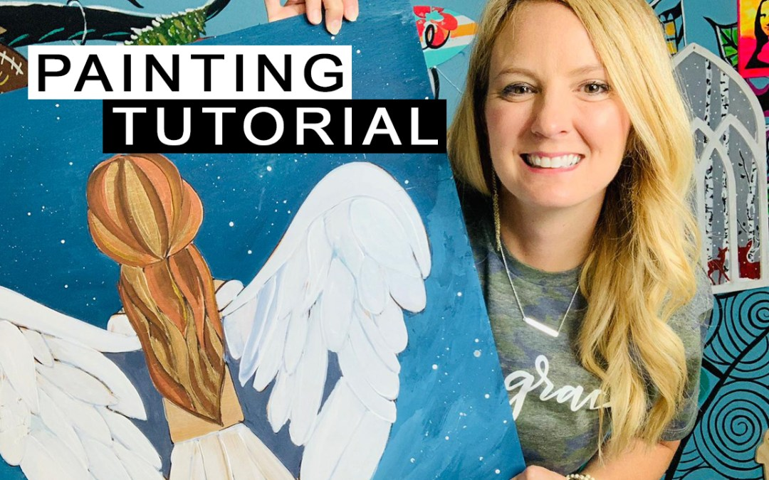 Angel Painting Tutorial! Paint with Me!!!