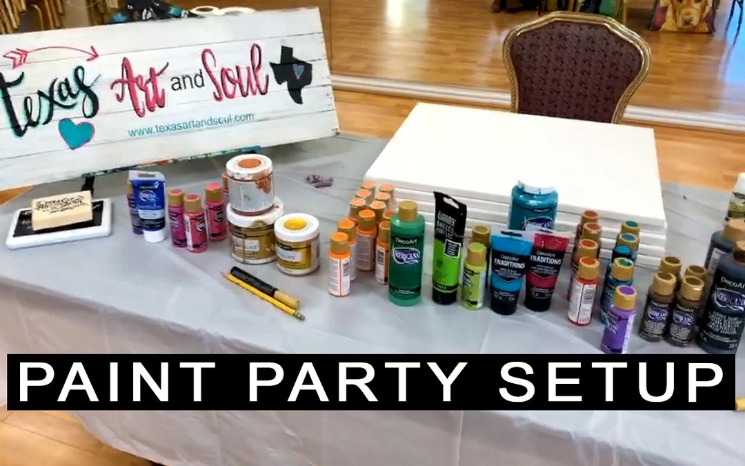Easy DIY Paint Party Set Up {with Video}