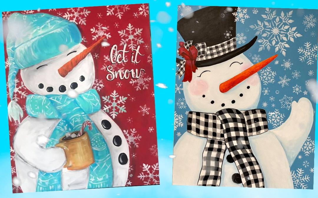 Paint Big Snowman Challenge!