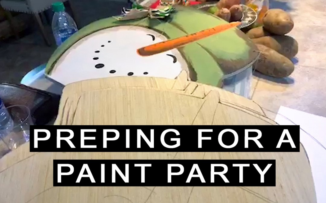 How I'm preparing for my next Paint Party event