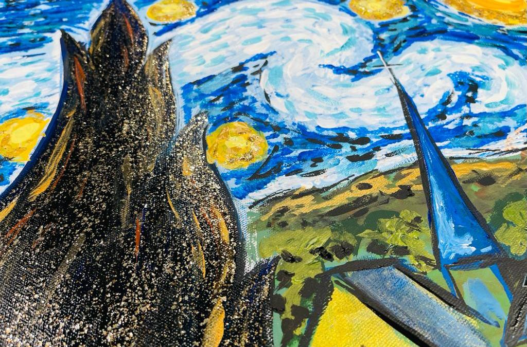 How to Paint Paint Starry Night   Part 2