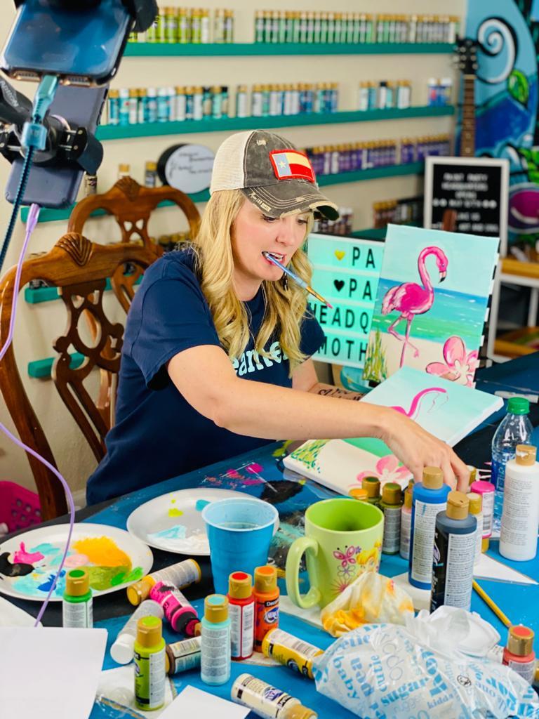 Heidi Easley Painting Live