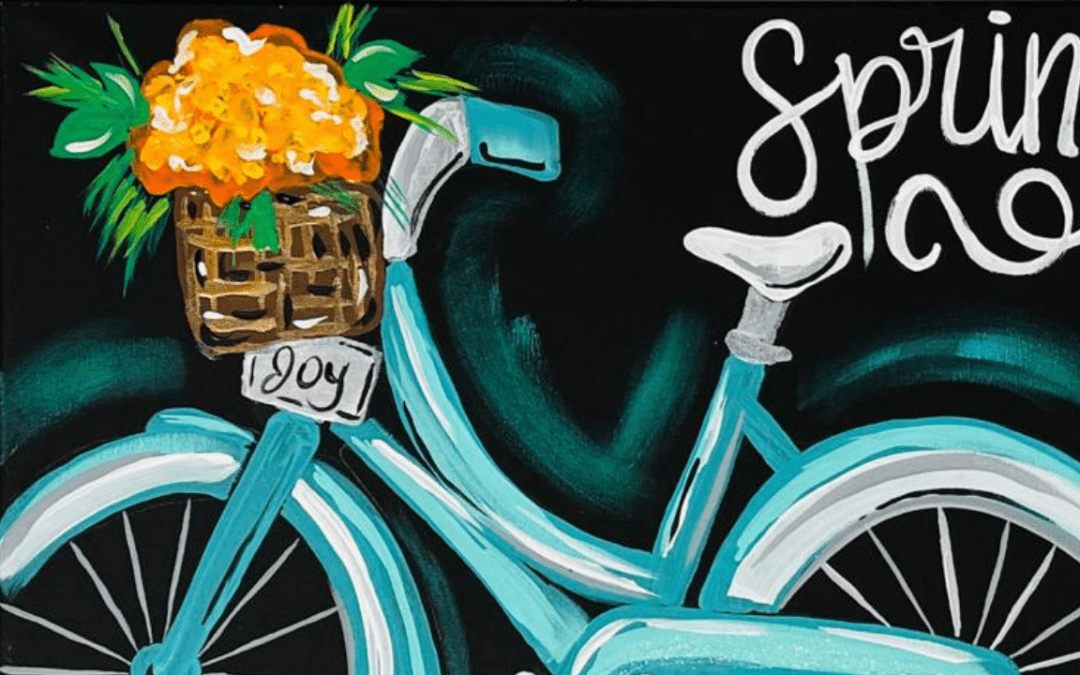 DIY Spring Bike Painting {With Video!}