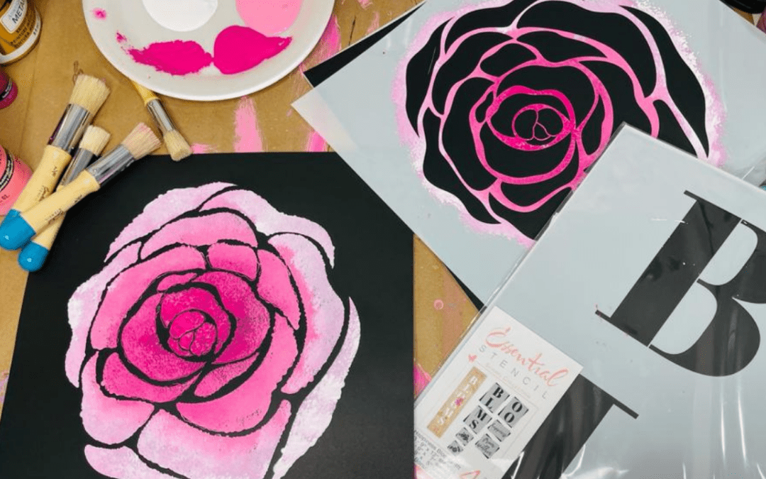 How To Create Awesome Art Using Stencils | It's Fun and Easy! {With Video}