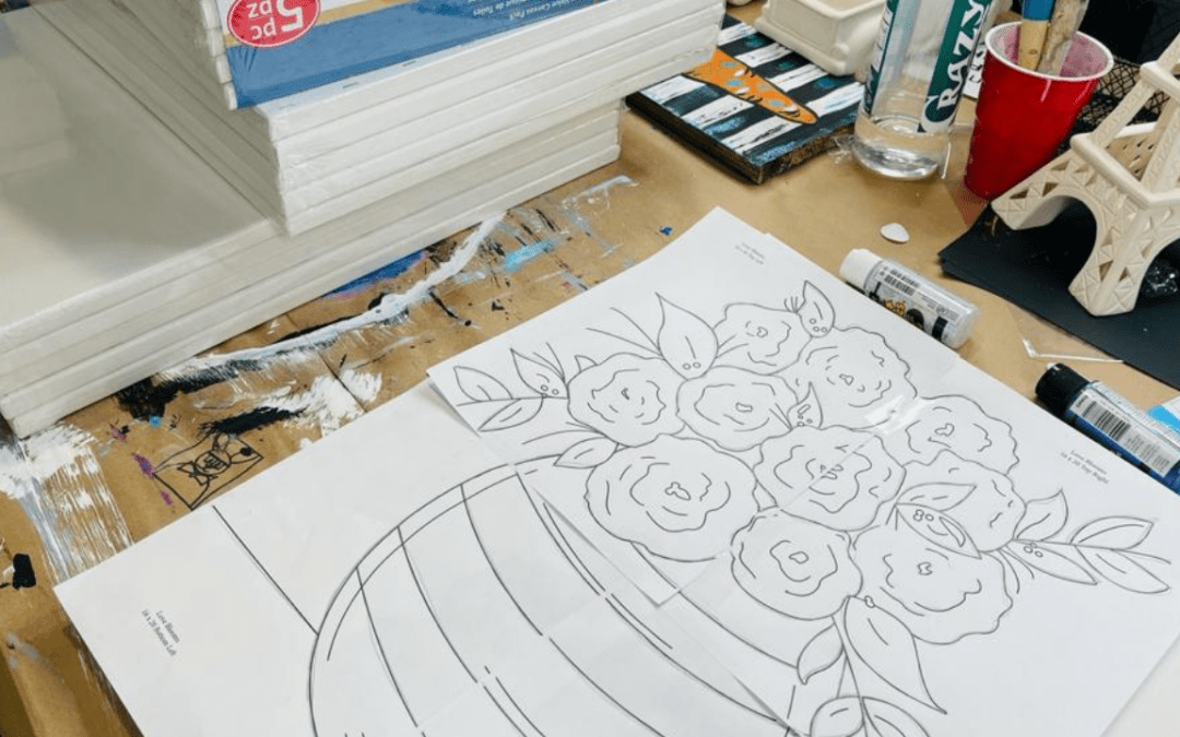 Canvas Prep: How to Trace Your Paint Party Canvases