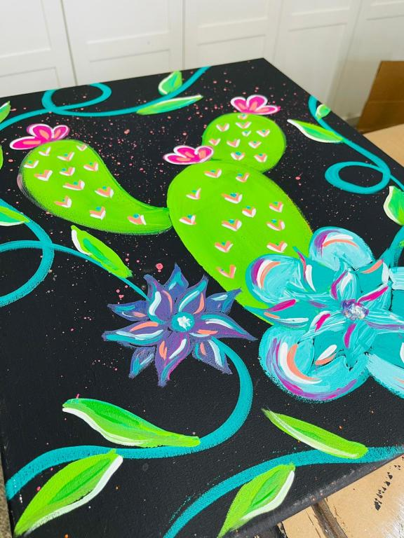 colorful cactus painting