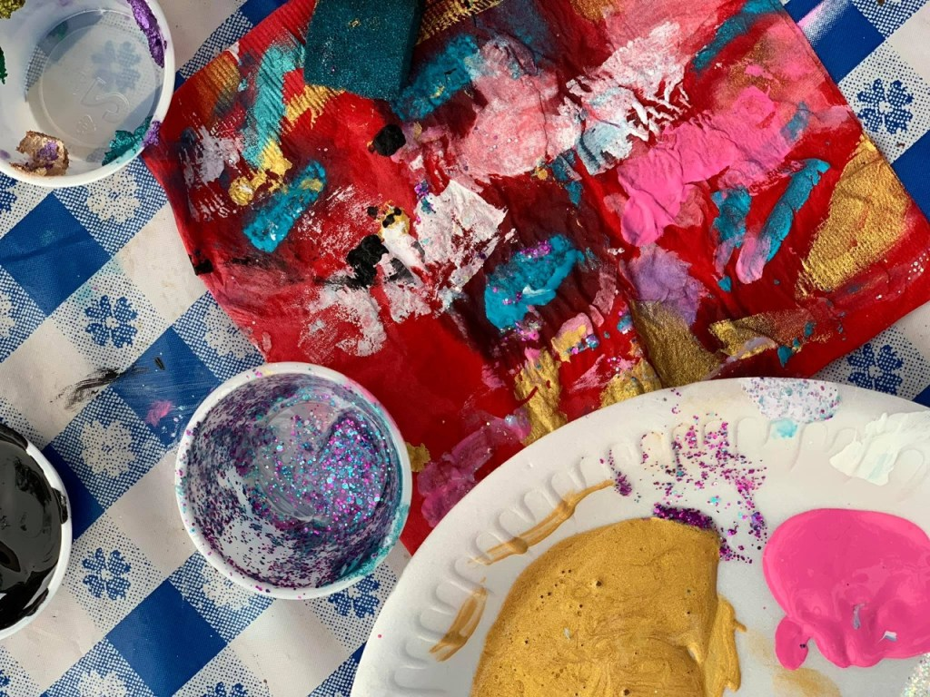 toddler paint party supplies
