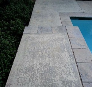 Pool Deck Concrete Resurfacing Before Image