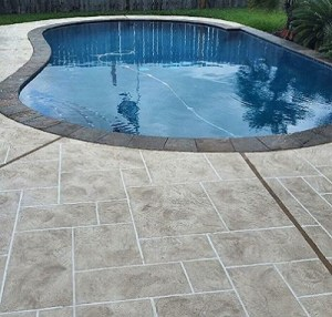 Poolside Concrete Resurfacing After Image
