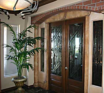 Modern Front Door Designer Glass Entry Door Matching