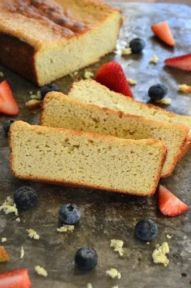 Almond Flour Sour Cream Pound Cake - A delicious twist on a sour cream pound cake, moist and full of flavor