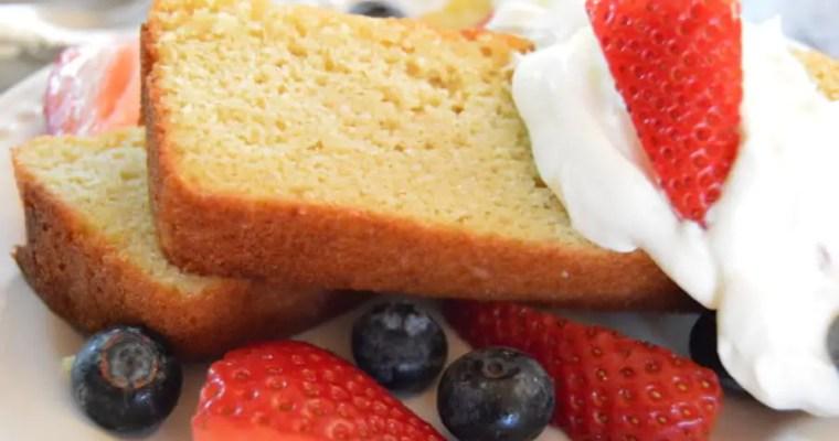 Almond Flour Sour Cream Pound Cake