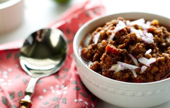 Slow Simmered Texas Style Venison Chili