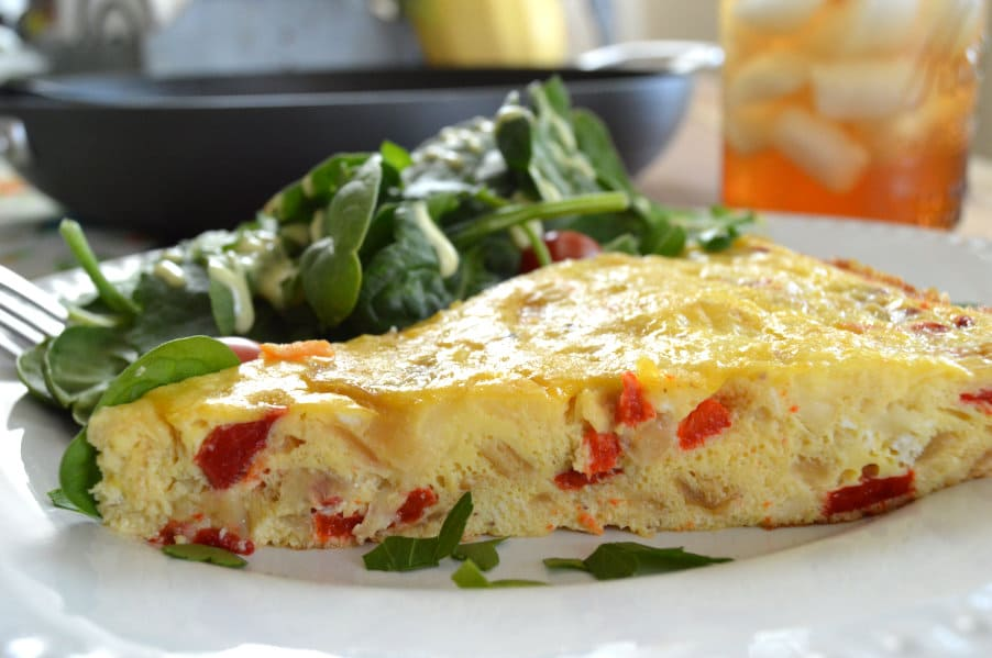 Roasted Red Pepper & Caramelized Onion Frittata