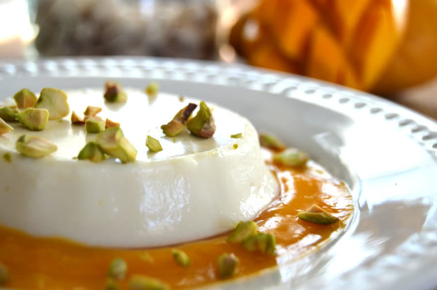 Buttermilk Panna Cotta with Mango Puree