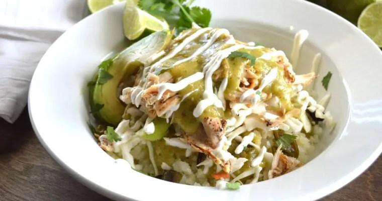 Chicken Verde Taco Bowls