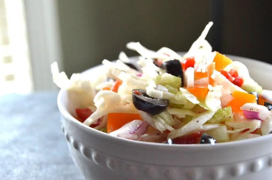 Cool cripy crunch oil & vinegar coleslaw